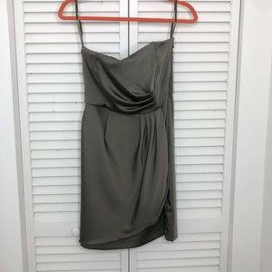 Banana Republic olive green strapless dress size 2